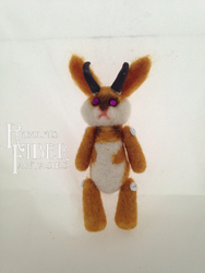 Needle Felt Jackalope Lil' Buddy by RRedolfi