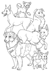 Kiwi and friends colouring page by novablue