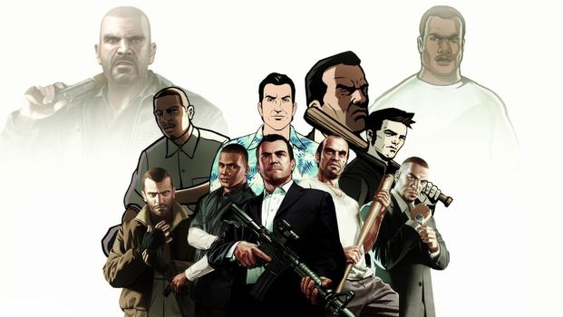 The Ultimate Grand Theft Auto Character Wallpaper by kadeklodt
