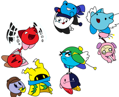 Flying freinds IN COLOR by Kirbysquad10
