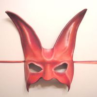 Leather Rabbit Mask in Pink by teonova
