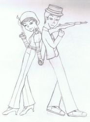 Bonnie and Clyde by Kerwinm12345