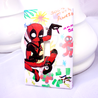 Deadpool Light Switch Cover by thedustyphoenix