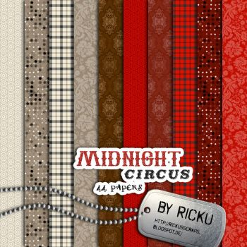 Digital Scrapbooking - Midnight Circus 44 Papers by Rickulein