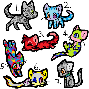 7 Cat Adoptables 2 by GrelliamFanRBLX