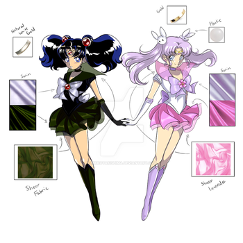 Nehelenia and Sailor Lavender Cherry Moon by NikkoTakishima