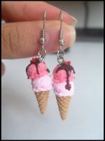 Ice cream earrings by Maca-mau