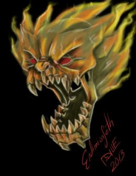 Demon Fire Skull by EndimionSeth