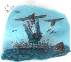 TODS: Mosasaur Attack by GeneralHelghast