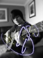 Me playing guitar by Distorted-Colours