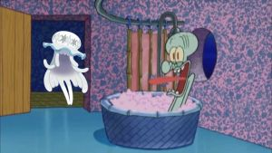 Nihilego drops by Squidward's house