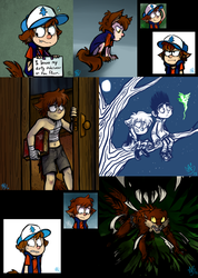 WerecatDipper Art Compilation- Odds and Ends by spookydoom