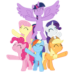 The mane six finishing up their performance by CypressArt174