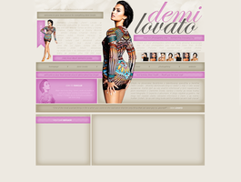 Demi Lovato Free Layout by lenkamason