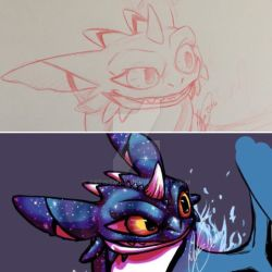 Process of N F by ArtistMaz