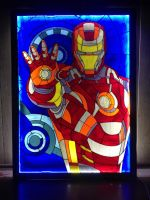Stained glass Iron Man by Art-Brother