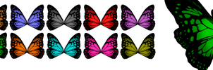 MMD Butterfly Wings DL (400 Watchers!!) by ChestNutScoop