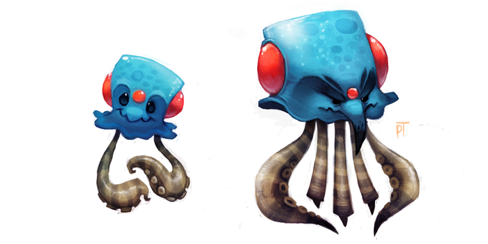 DAY 473. Kanto 072 - 073 by Cryptid-Creations
