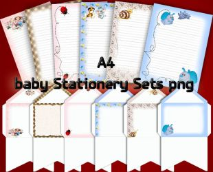 baby Stationery Sets by roula33