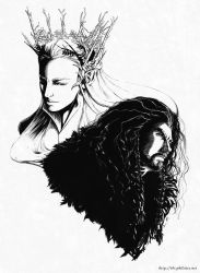 The Hobbit - Thranduil and Thorin by himlayan