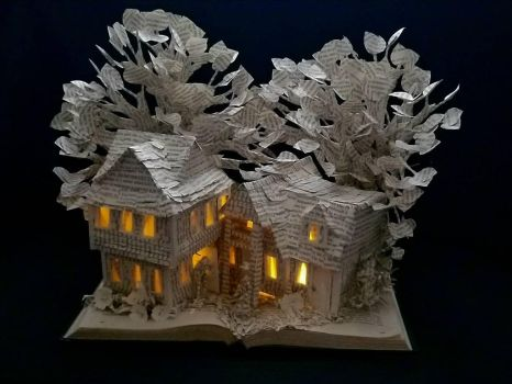 The House of the Seven Gables Book Sculpture by wetcanvas