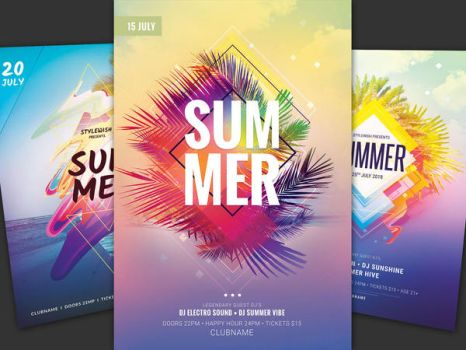 Summer Flyer Bundle Vol.18 by styleWish