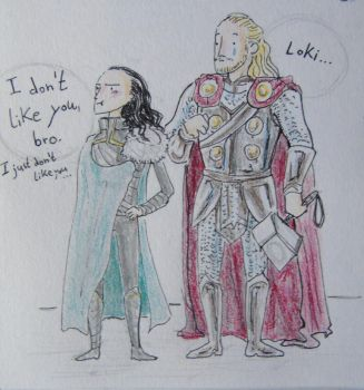Loki and Thor by LadyCannelle