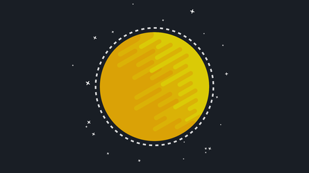 The Sun - Flat Design by NameThisGraphicsCo