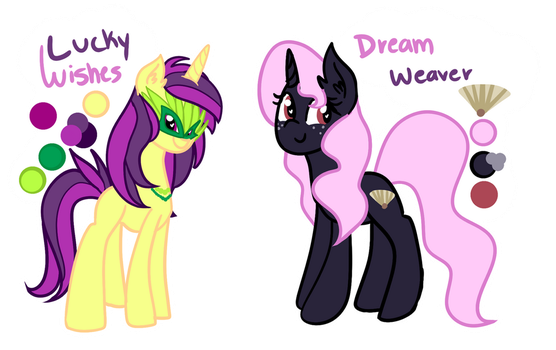 [OCS] Lucky Wishes And Dream Weaver [filler] by PaperKoalas