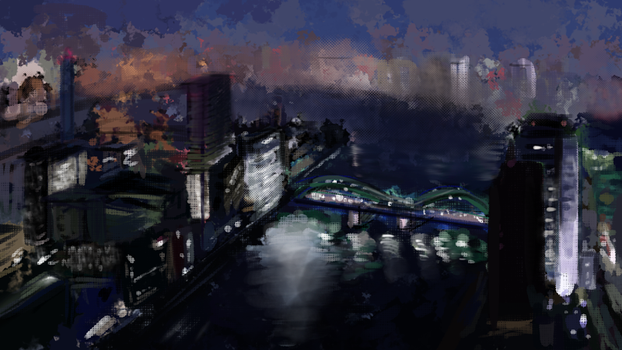 City Speedpaint by sannahikari