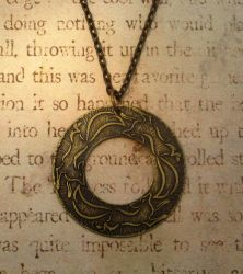 Fox Run Antiqued Brass Necklace by FusedElegance