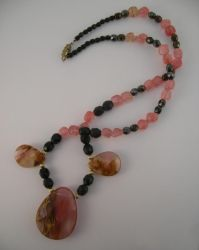 Exotic Cherries Necklace by DAnnsCreations