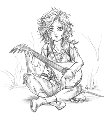 Stout Halfling Bard - Blemish by valkyriechan
