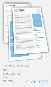 Clean Resume Pack by Thomascullen92