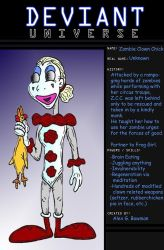 Zombie Clown Chick by Lordwormm