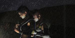 Fang x Lightning- Stand in the Rain by Wellsy71