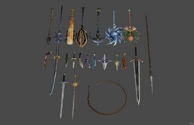 'Bloodstained: Ritual of the Night' Weapons XPS!!! by lezisell