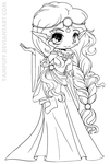 Scottish Elf Princess Lineart