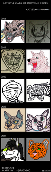 4 Years of Faces by wolfierocks45