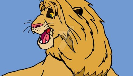 Comic style lion by ClaireBear26
