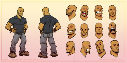 Toon Zip Turnaround Colored by ZipDraw