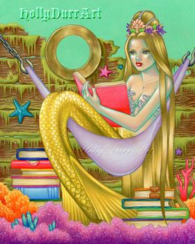 Mermaid Reading by hollydurr