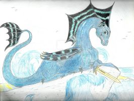 Percy Jackson as a Dragon by Bellephron