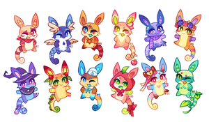 (CLOSED) Charminis Army #1 by scarletscreations