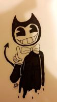 Bendy the demon  by Pinkwolfly
