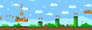 Pixel Art - Super Mario Remake by baranot3nshi