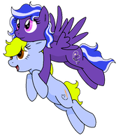 Flying with Skypaw by SummerSketch-MLP
