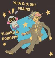 Yusaku and Roboppy by kolilop