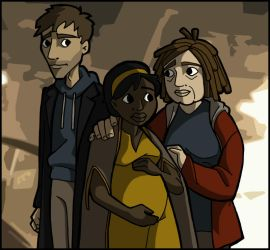 Children of Men - Theo + Kee + Miriam by MauserGirl