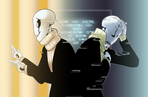 Undertale: W.D. Gaster by Miss-Sheepy